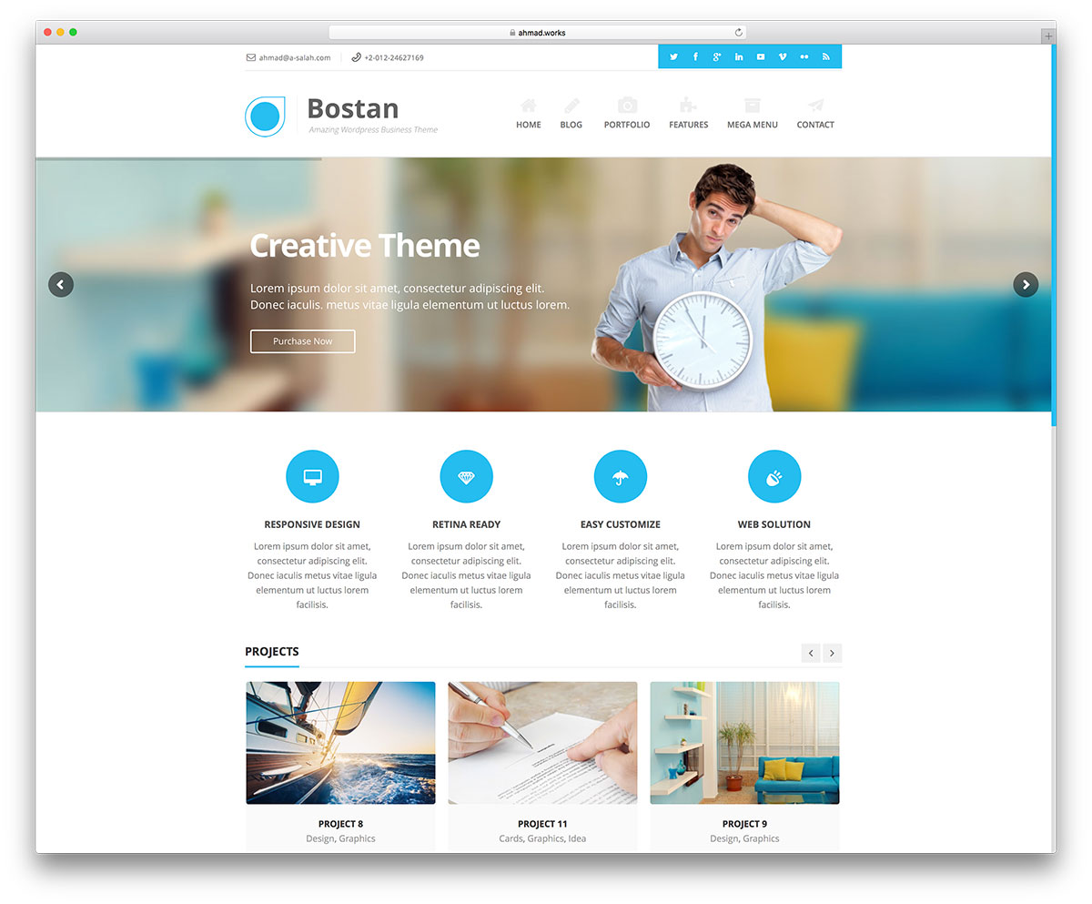 50 best wordpress corporate business themes of 2018 colorlib bostan minimal business wordpress website theme flashek