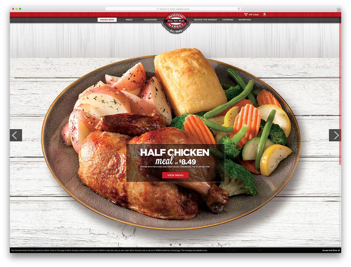 bostonmarket-restaurant-website-using-wordpress-cms