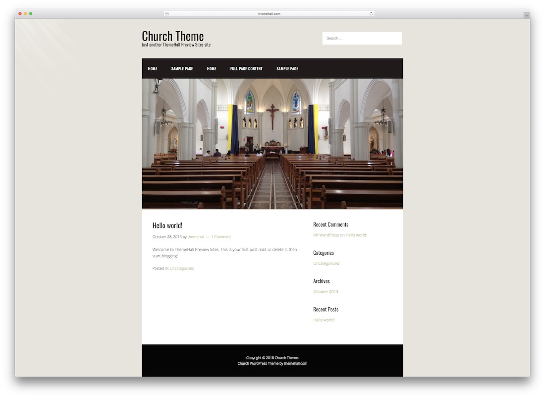 boxed church website template