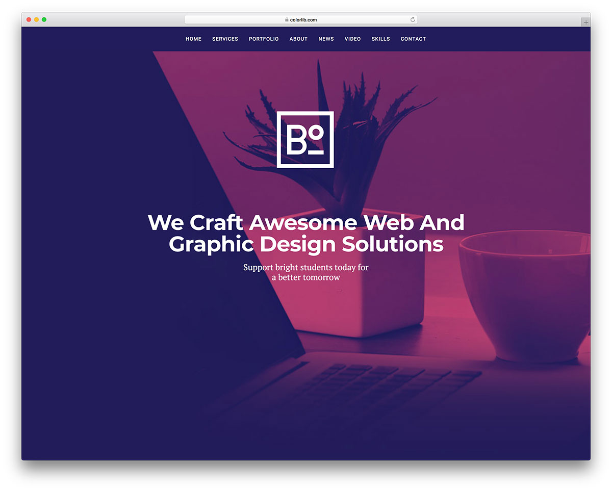 boxus free mobile-friendly website template