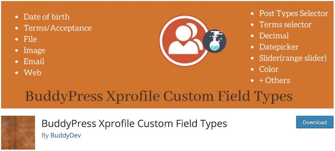 bp xprofile custom field types