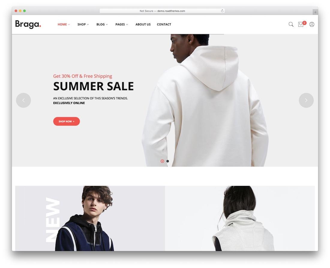 braga cheap website template