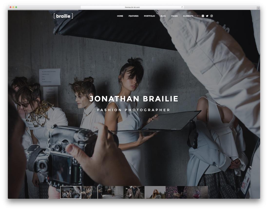 brailie fashion website template