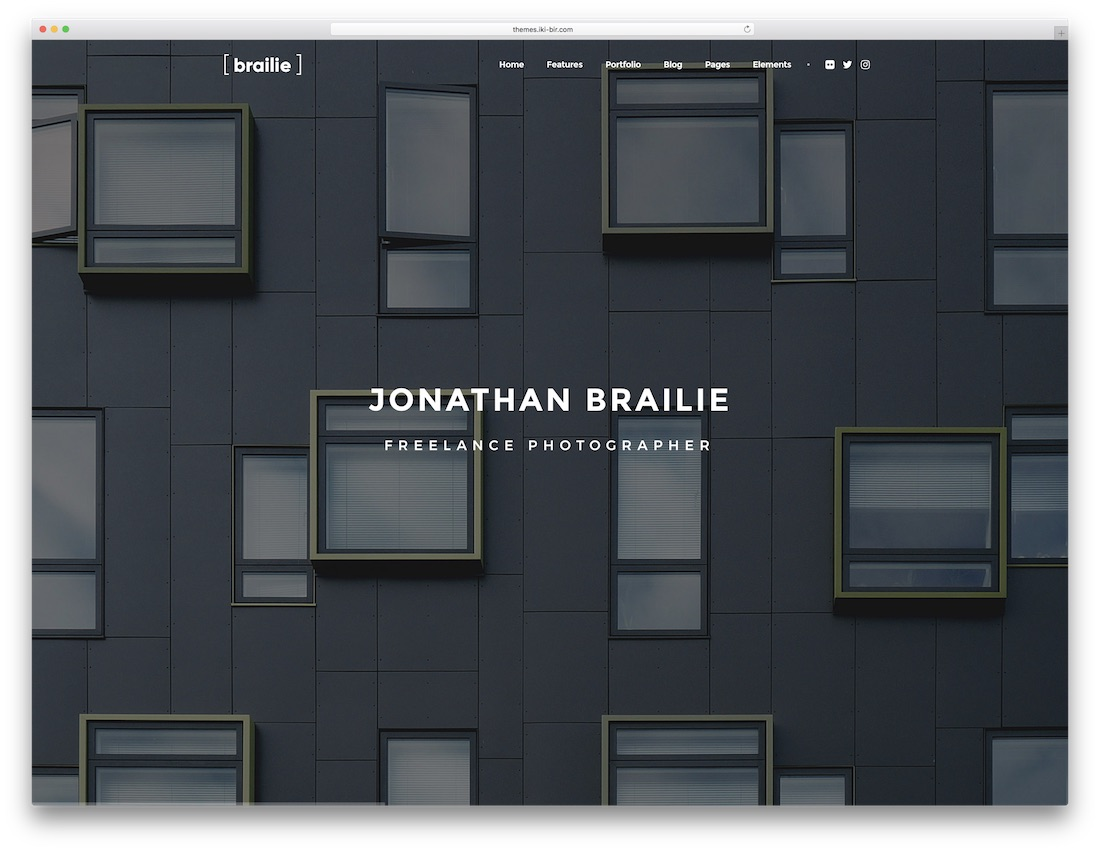 brailie fullscreen website template