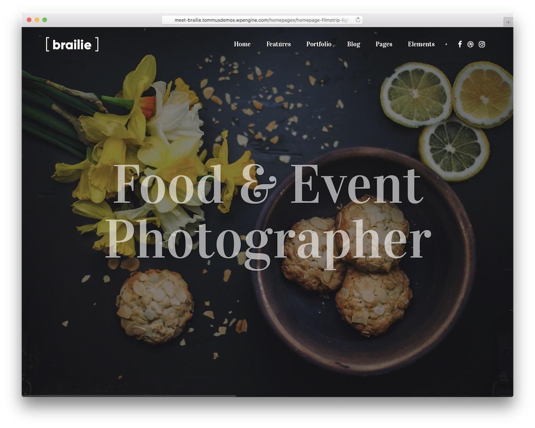 brailie wordpress gallery theme