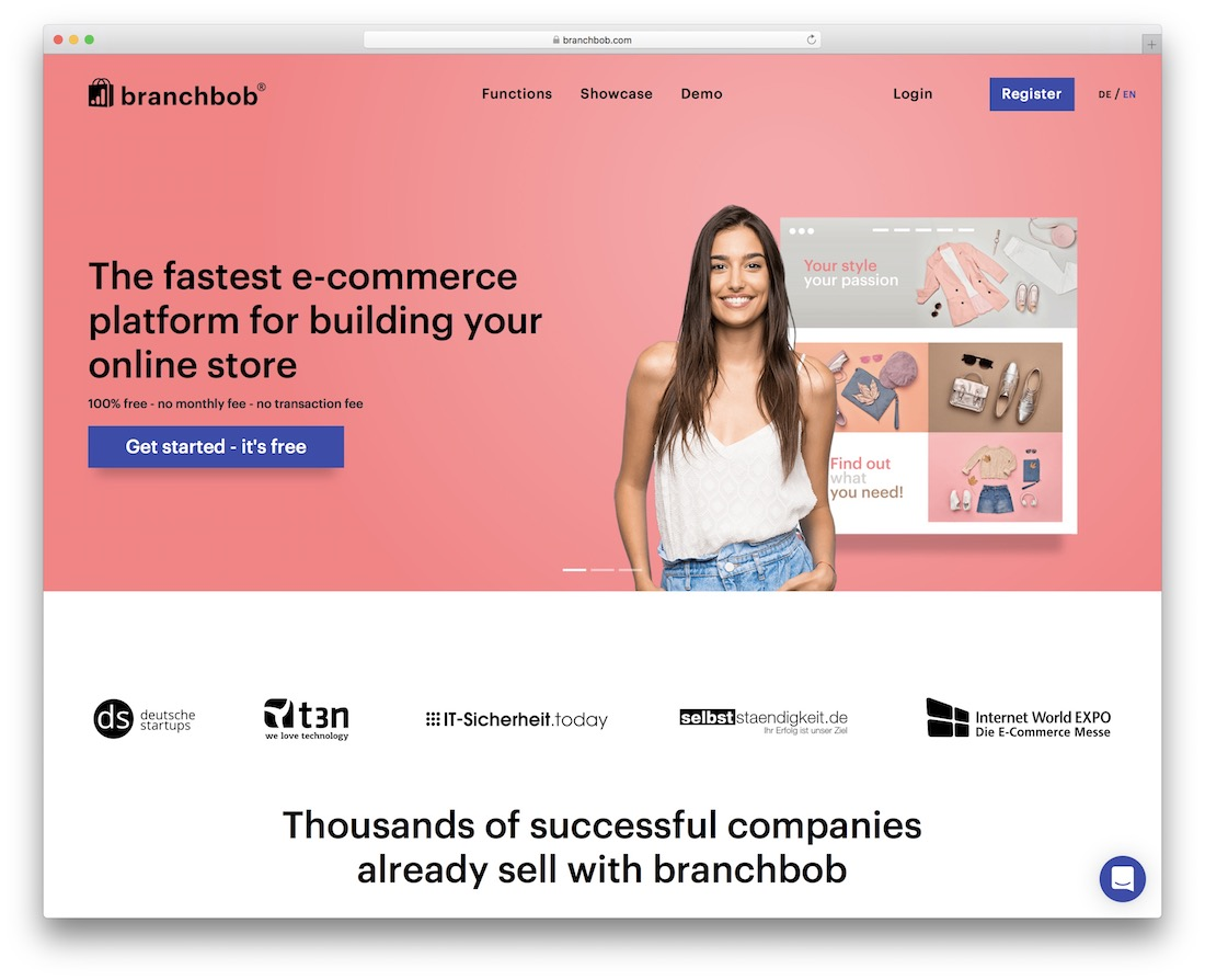 branchbob ecommerce website builder