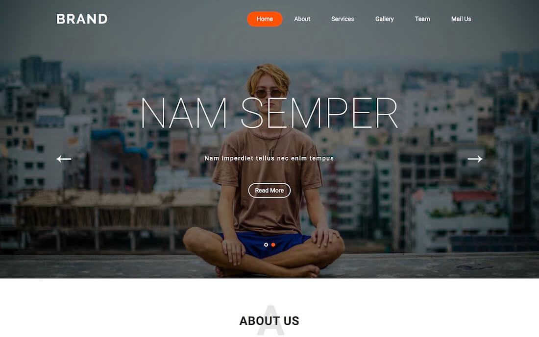 brand free fashion web template