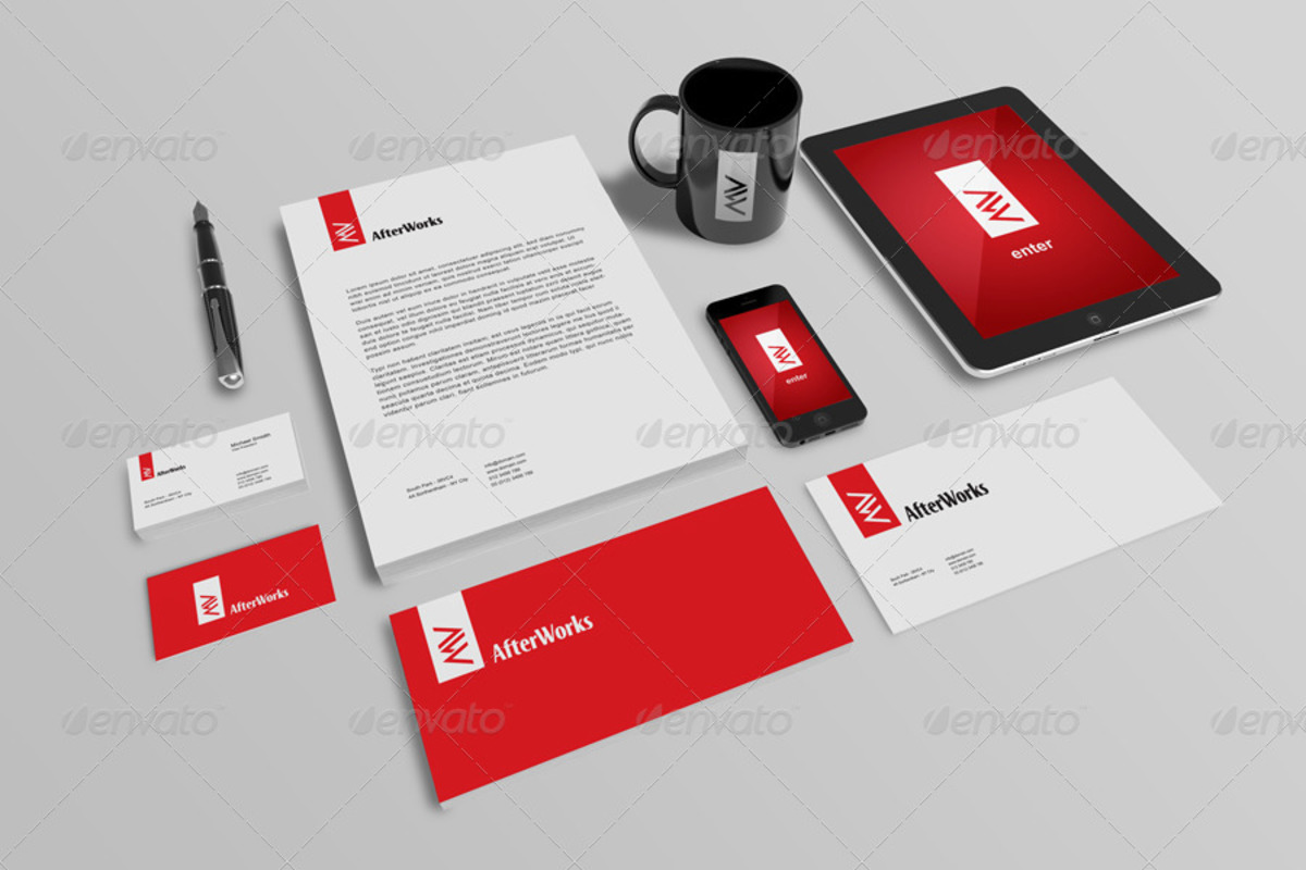 Brand Stationery PSD Mockup
