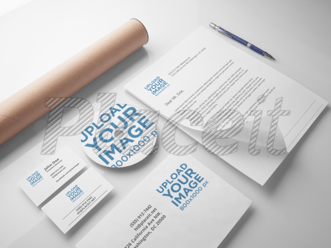 branding and visual identity mockup template
