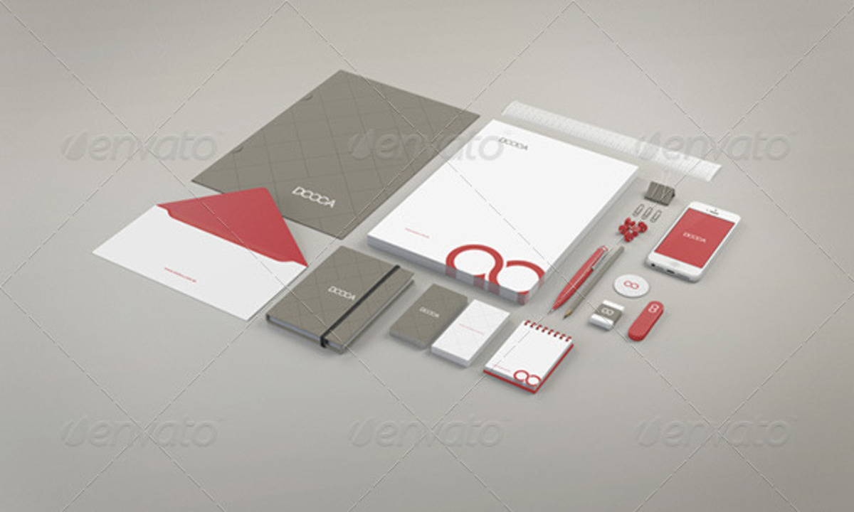 Branding Stationery PSD Mockup Set