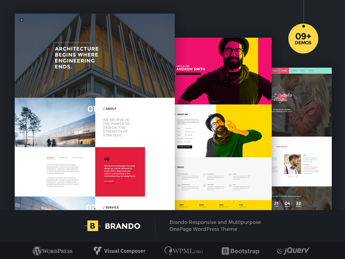 50 best wordpress corporate business themes of 2018 colorlib brando is a one page multipurpose wordpress theme that has lots of versatility and specialized demos it also comes with many interchangeable layouts and a accmission Choice Image