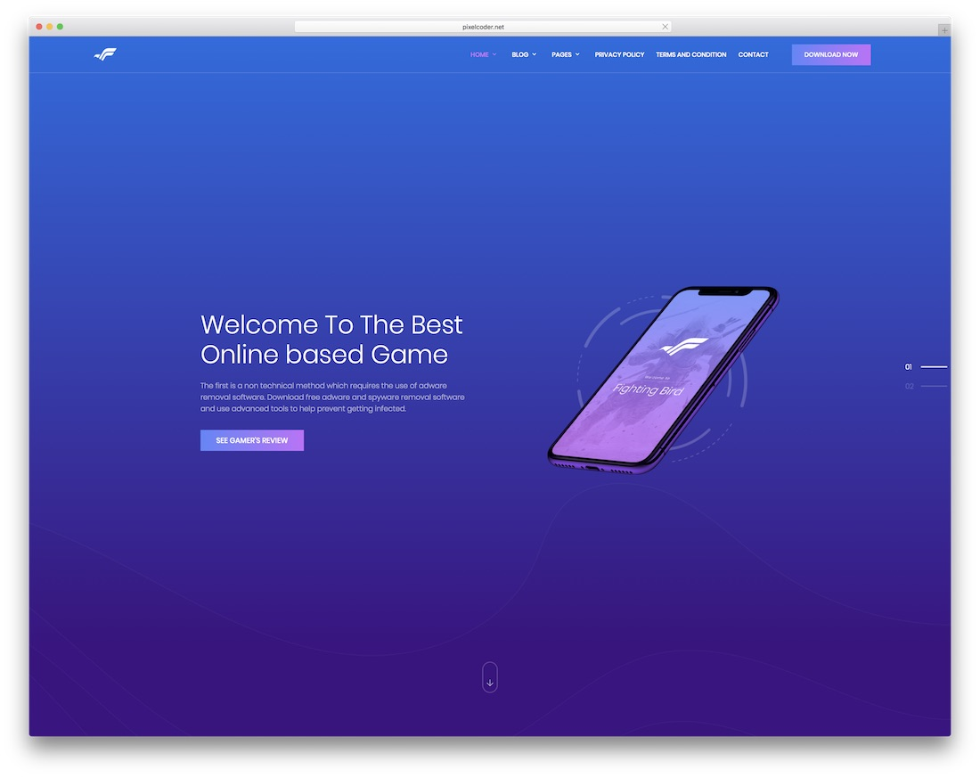 bravapp gaming html website template