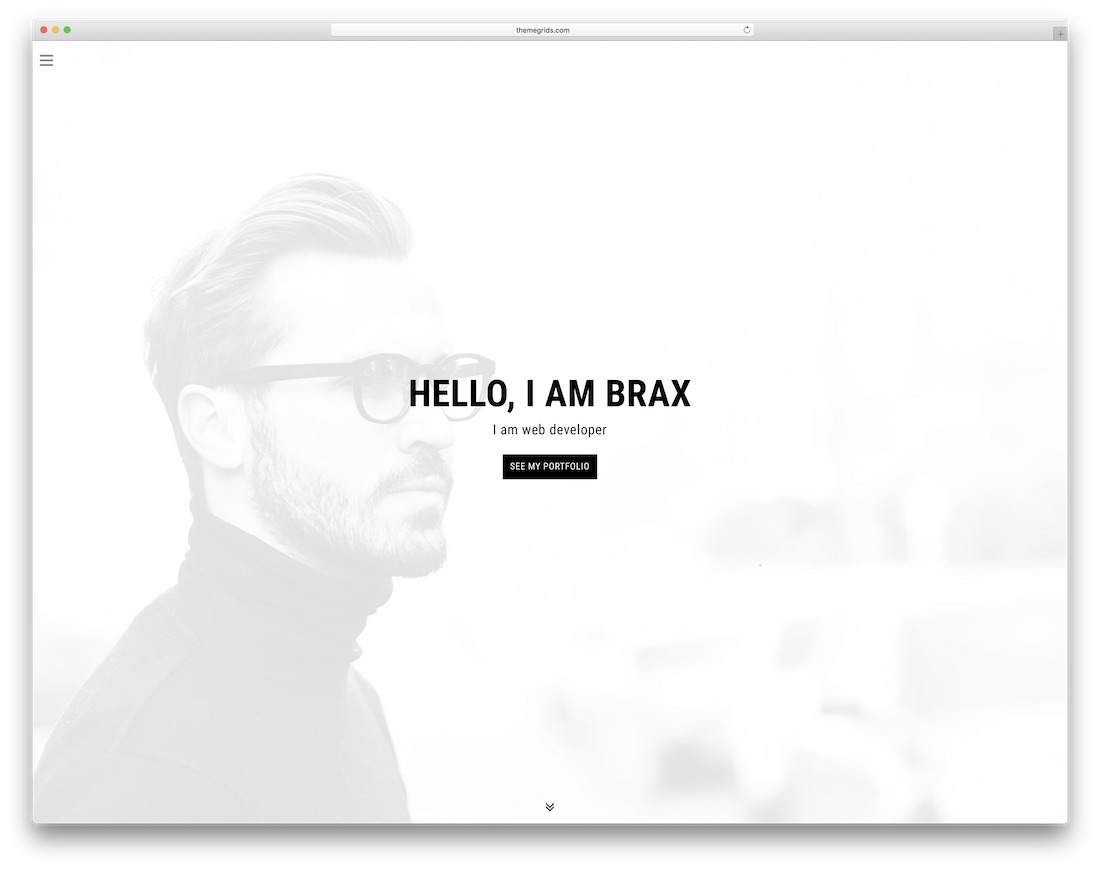 brax bootstrap personal website template