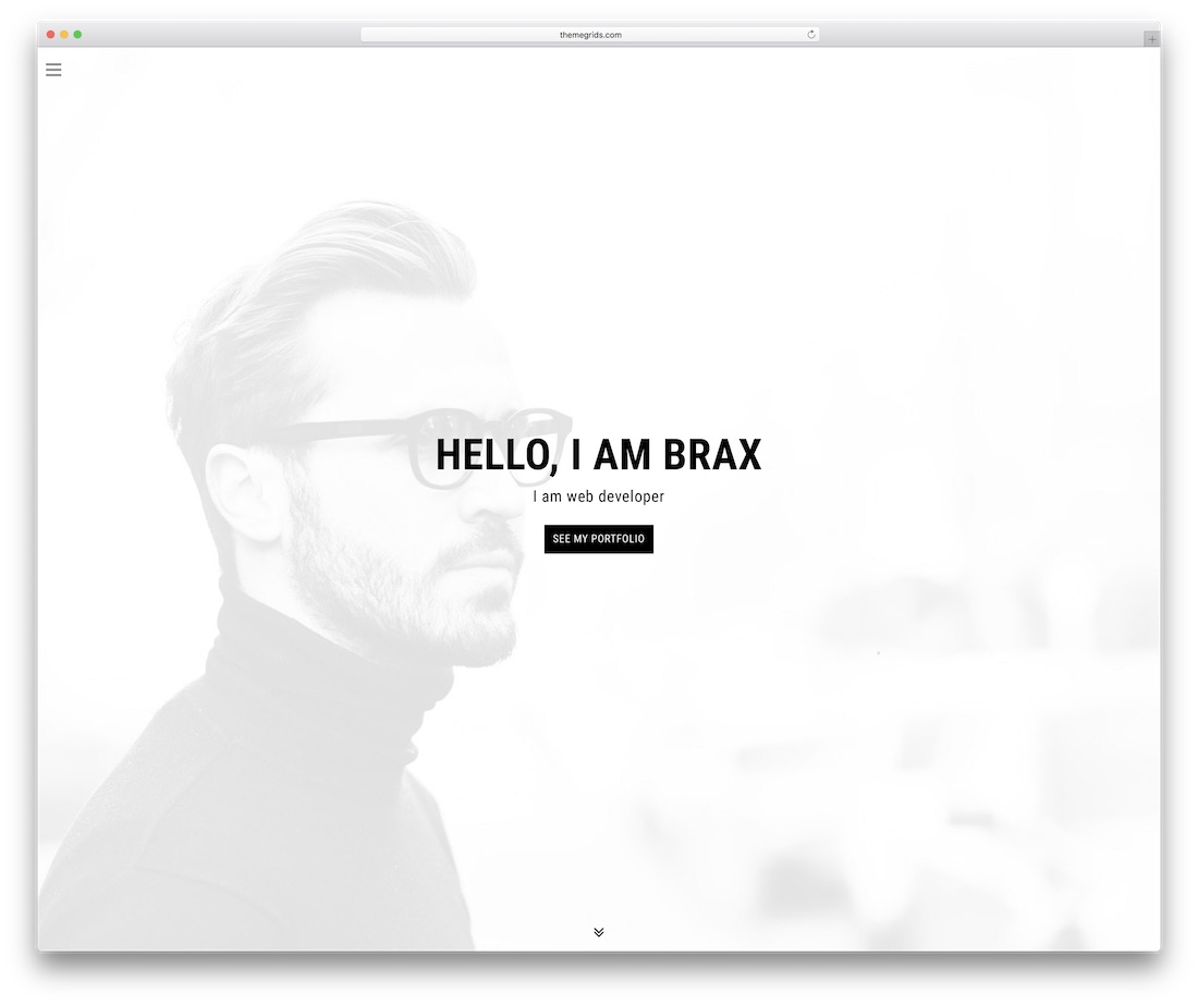 brax personal website template