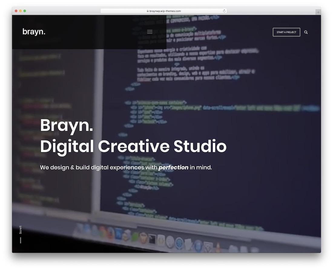 brayn creative agency wordpress theme