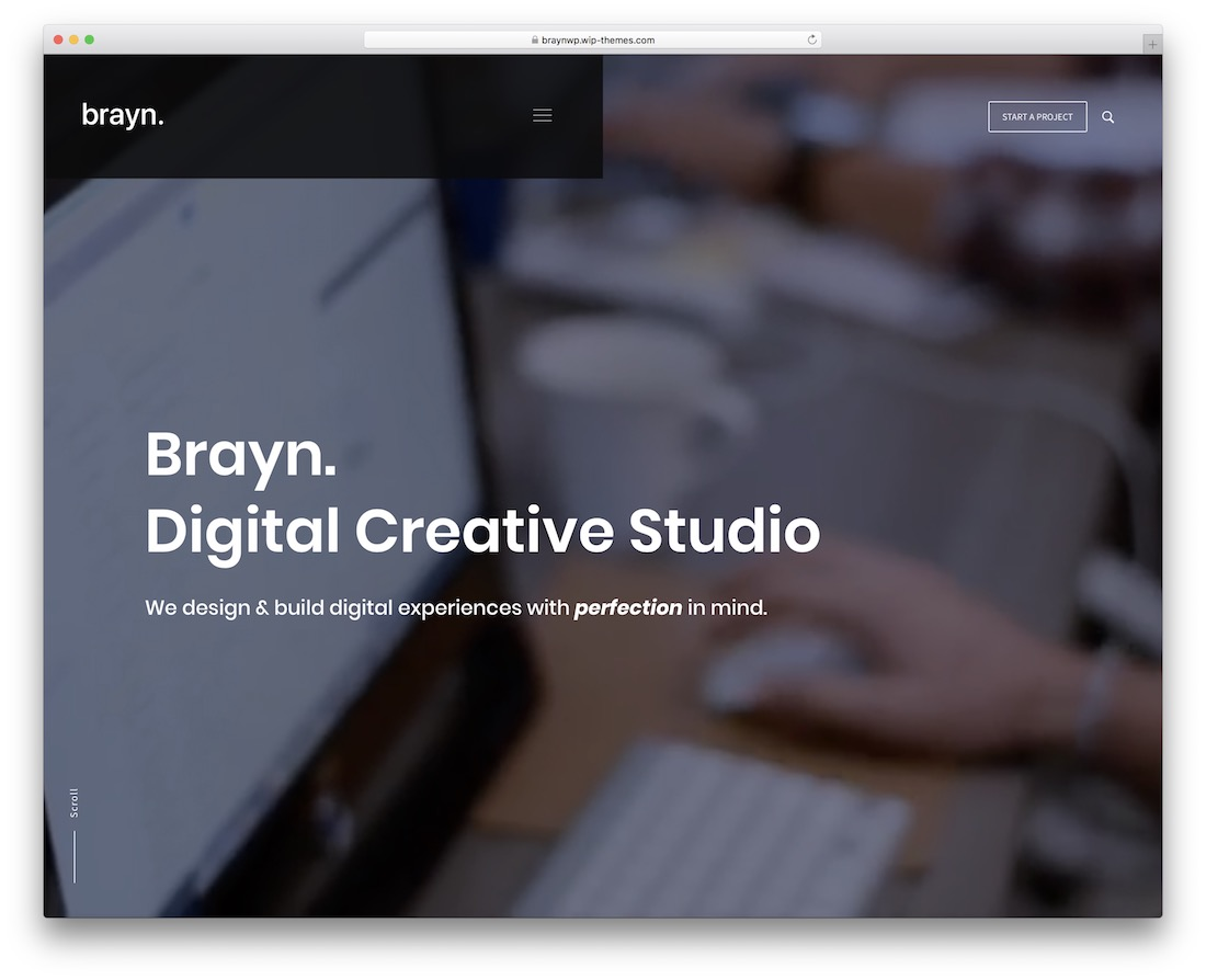 brayn-portfolio wordpress theme