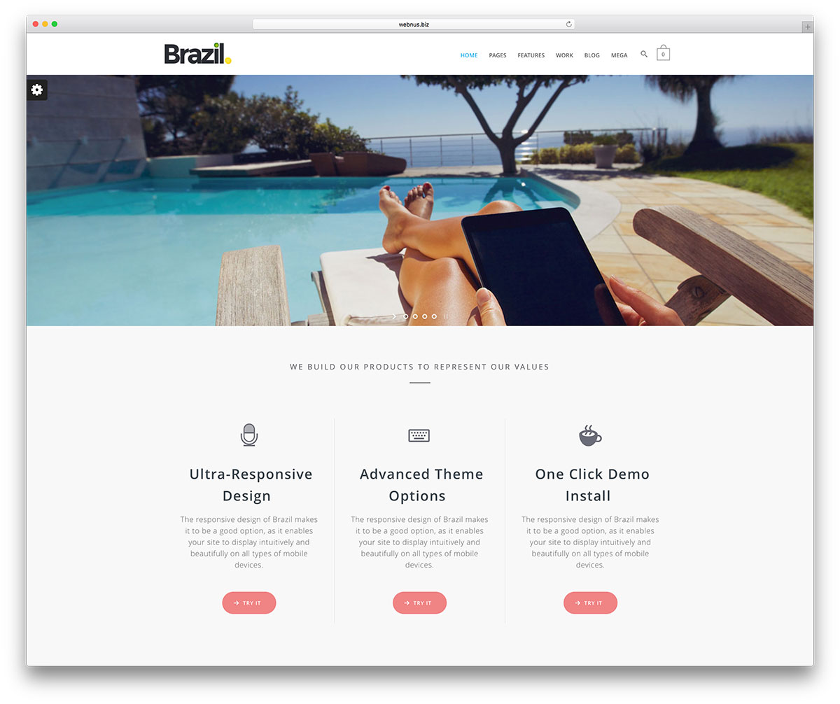 brazil-minimal-wordpress-website-template