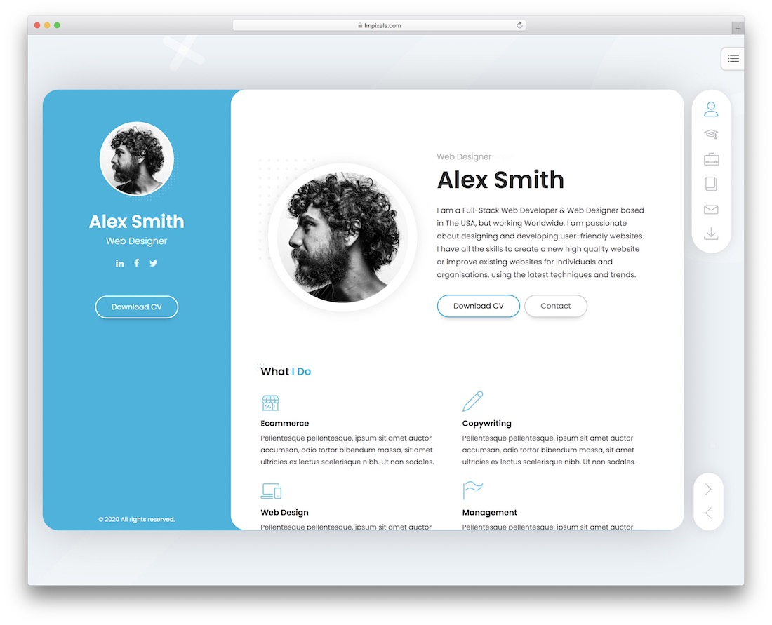 breezycv wordpress resume theme
