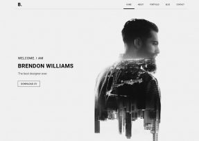 Brendon-bootstrap-personal-website-templates