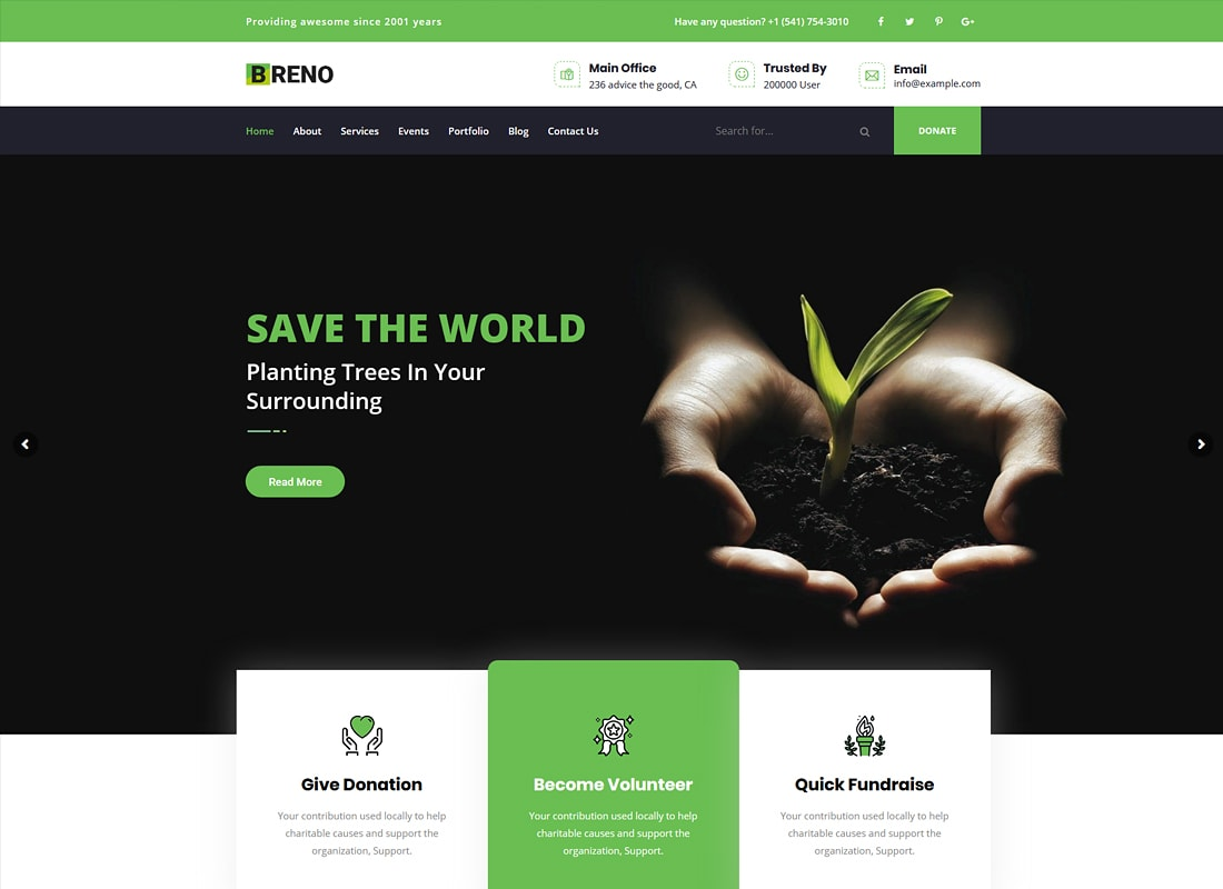 Breno | Green Energy WordPress Theme