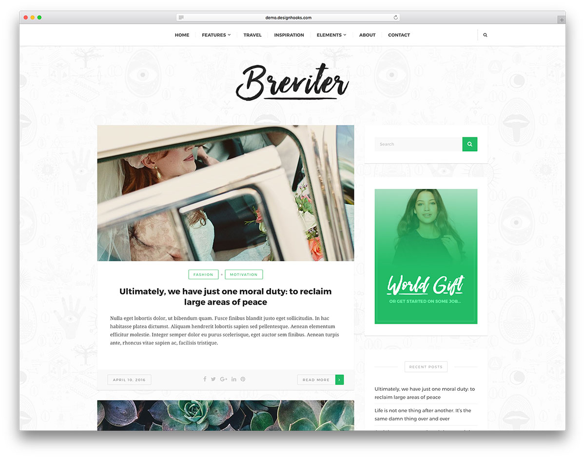 A Purposeful And Handcrafted Free WordPress Blog Creative Website Theme With Breviter Articulating Modern Blogs Websites Is Fast Simple