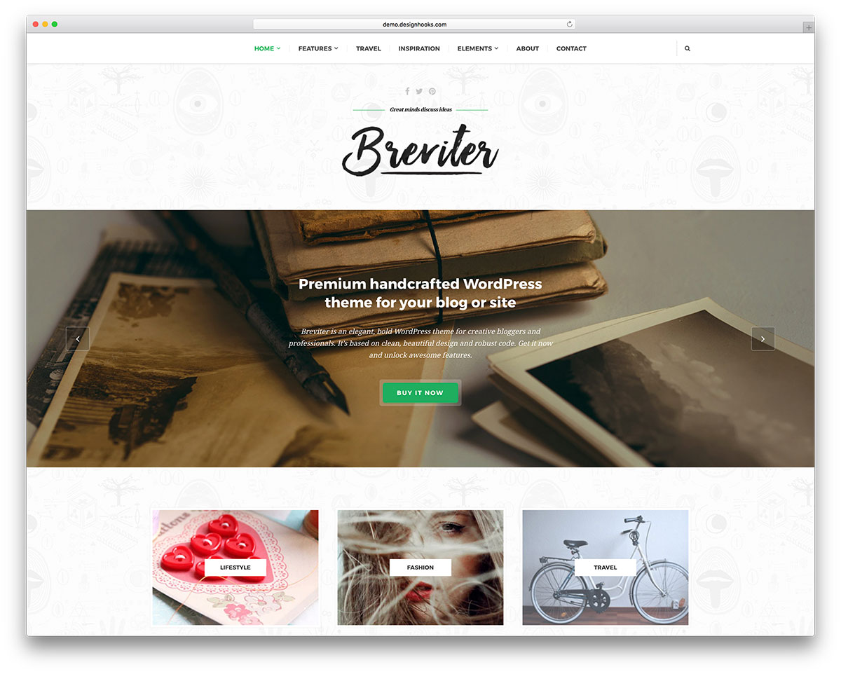 Breviter Pro Is WordPress Theme Specially Oriented To Designers And Similar Areas It Comes With Amazing Layouts For Many Purposes A Very Easy Install
