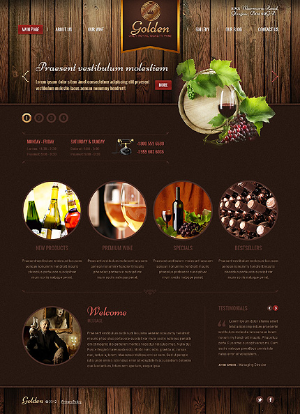 Wine WordPress Theme