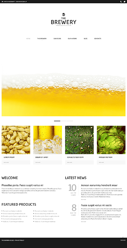 Brewery Business WordPress Theme