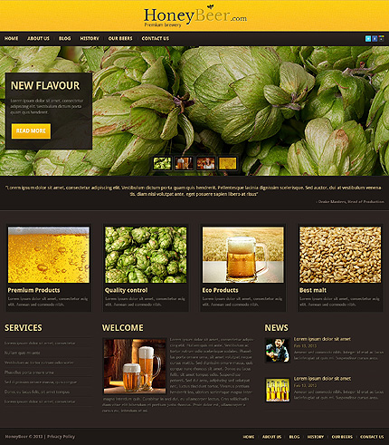 Premium Brewery WordPress Theme