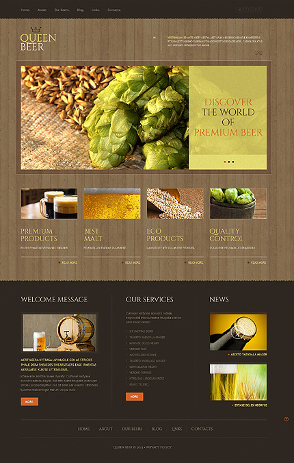 Brewery Responsive WordPress Theme