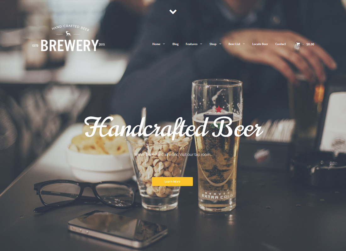 Brewery - WordPress Theme for Beer Makers