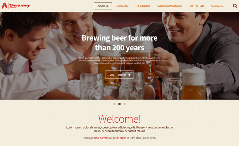 20 Responsive WordPress Templates For Pubs, Wineries And Brewery Sites
