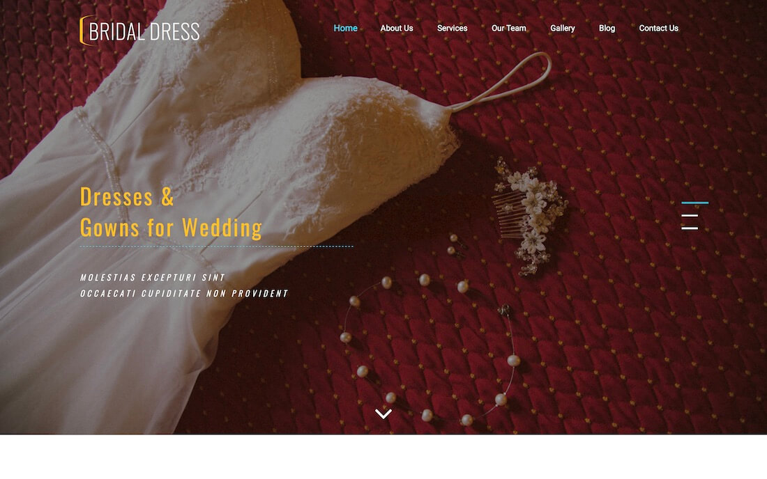 bridal dress free fashion website template