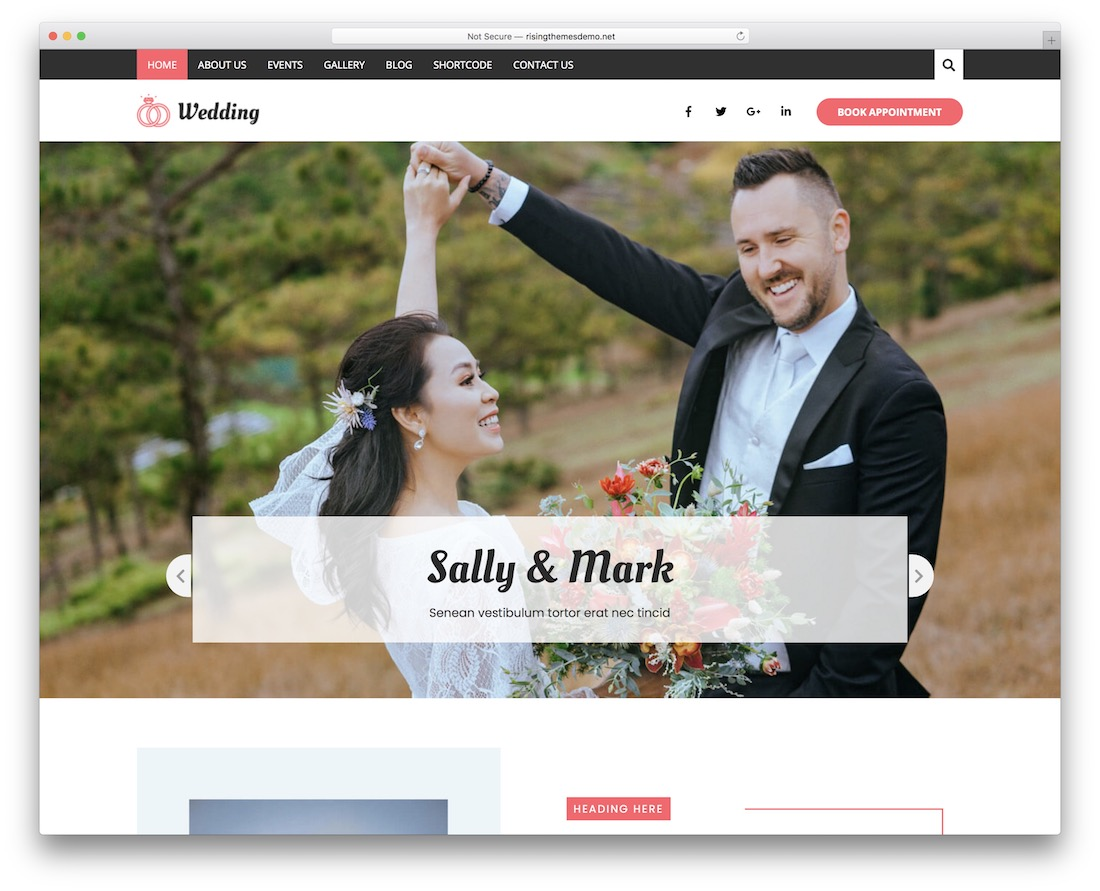 bridal free wordpress wedding theme