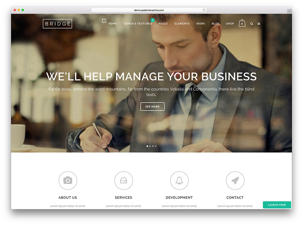 bridge - advanced local business theme