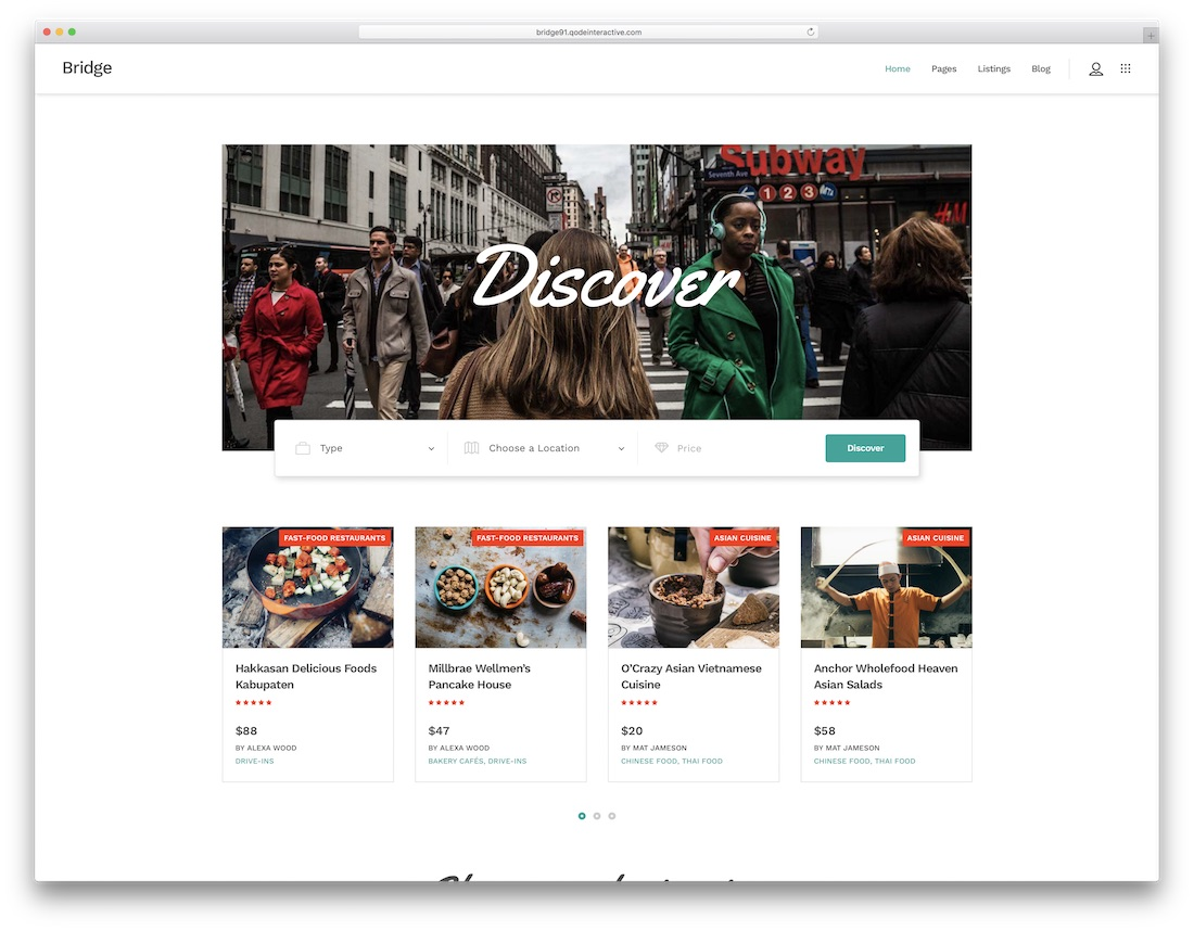 bridge best directory wordpress theme