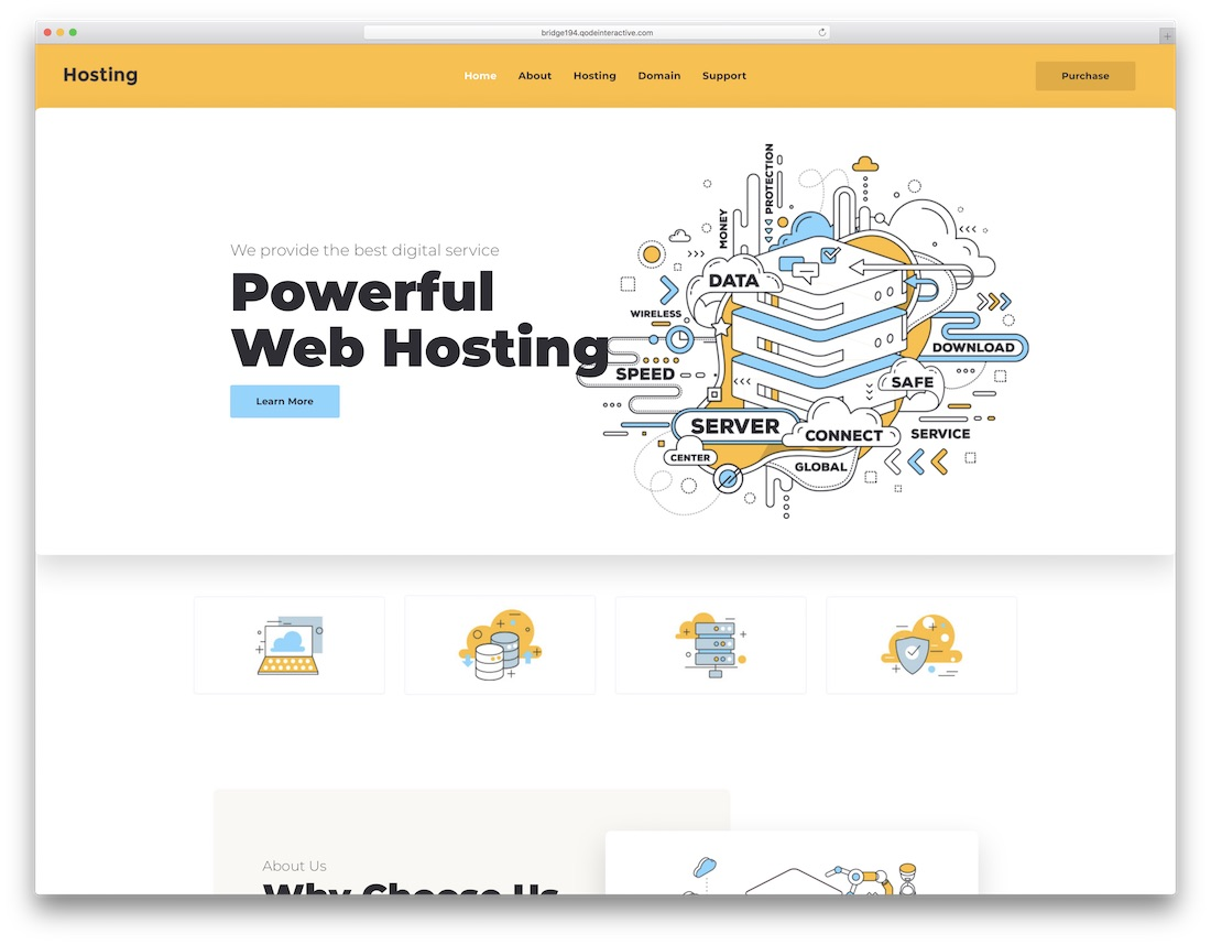 bridge best hosting wordpress theme