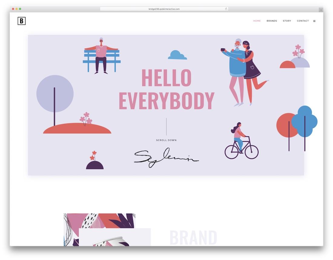 bridge colorful wordpress theme
