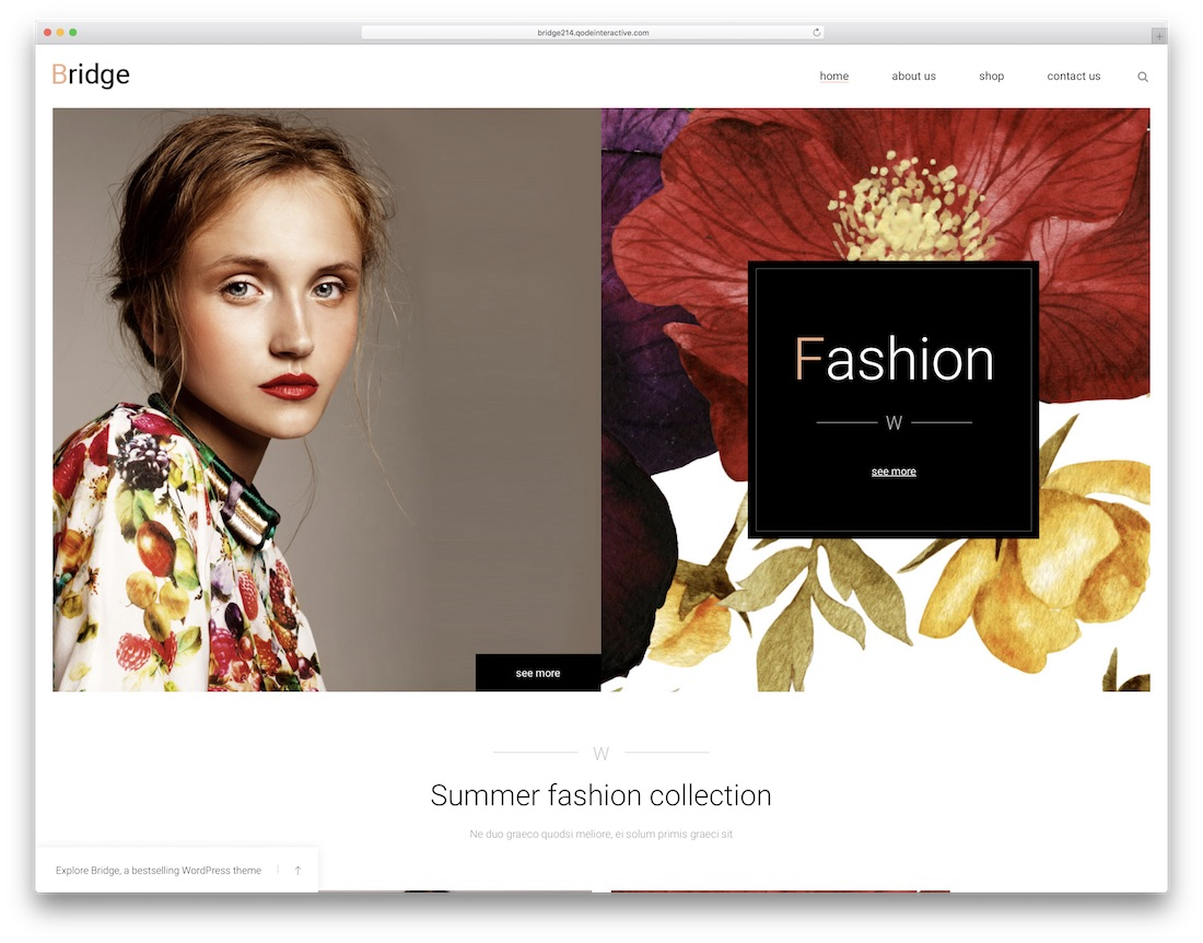bridge ecommerce wordpress theme