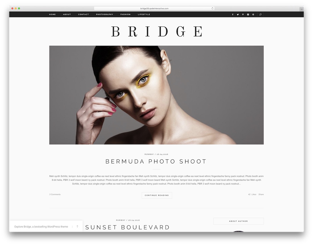 bridge fashion wordpress theme