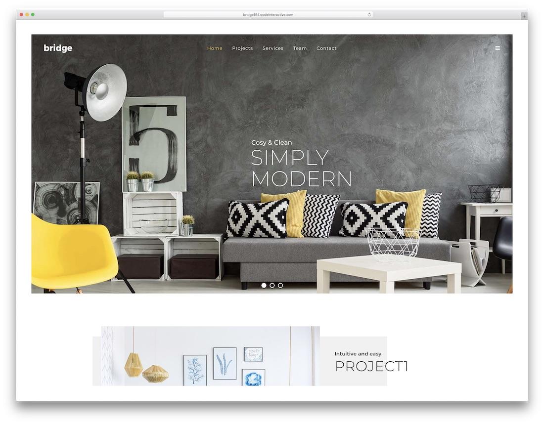 bridge interior design wordpress theme