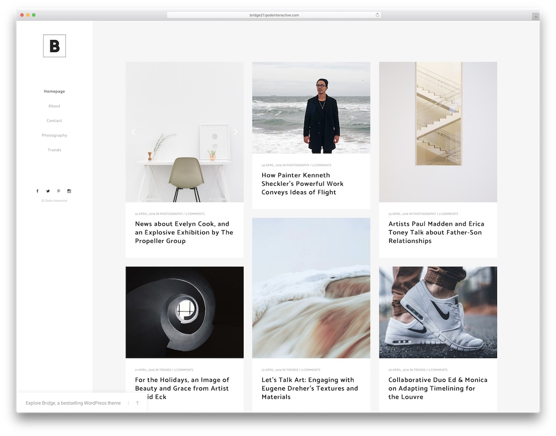 bridge minimalist wordpress theme