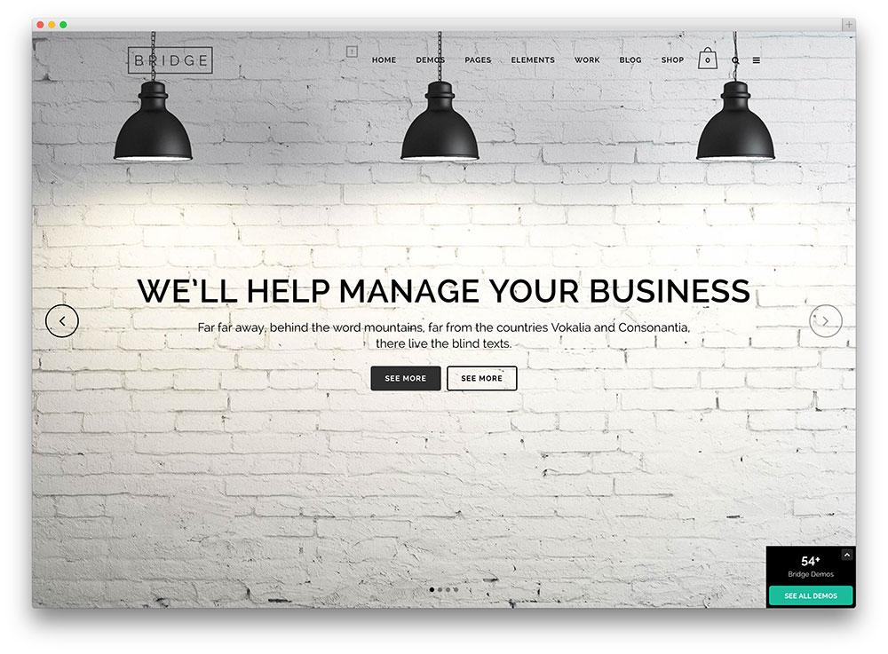 bridge expressive multipurpose business theme