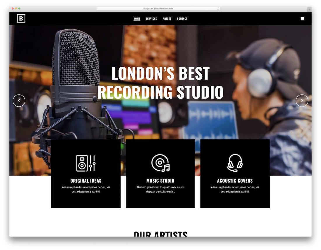 bridge wordpress radio station theme