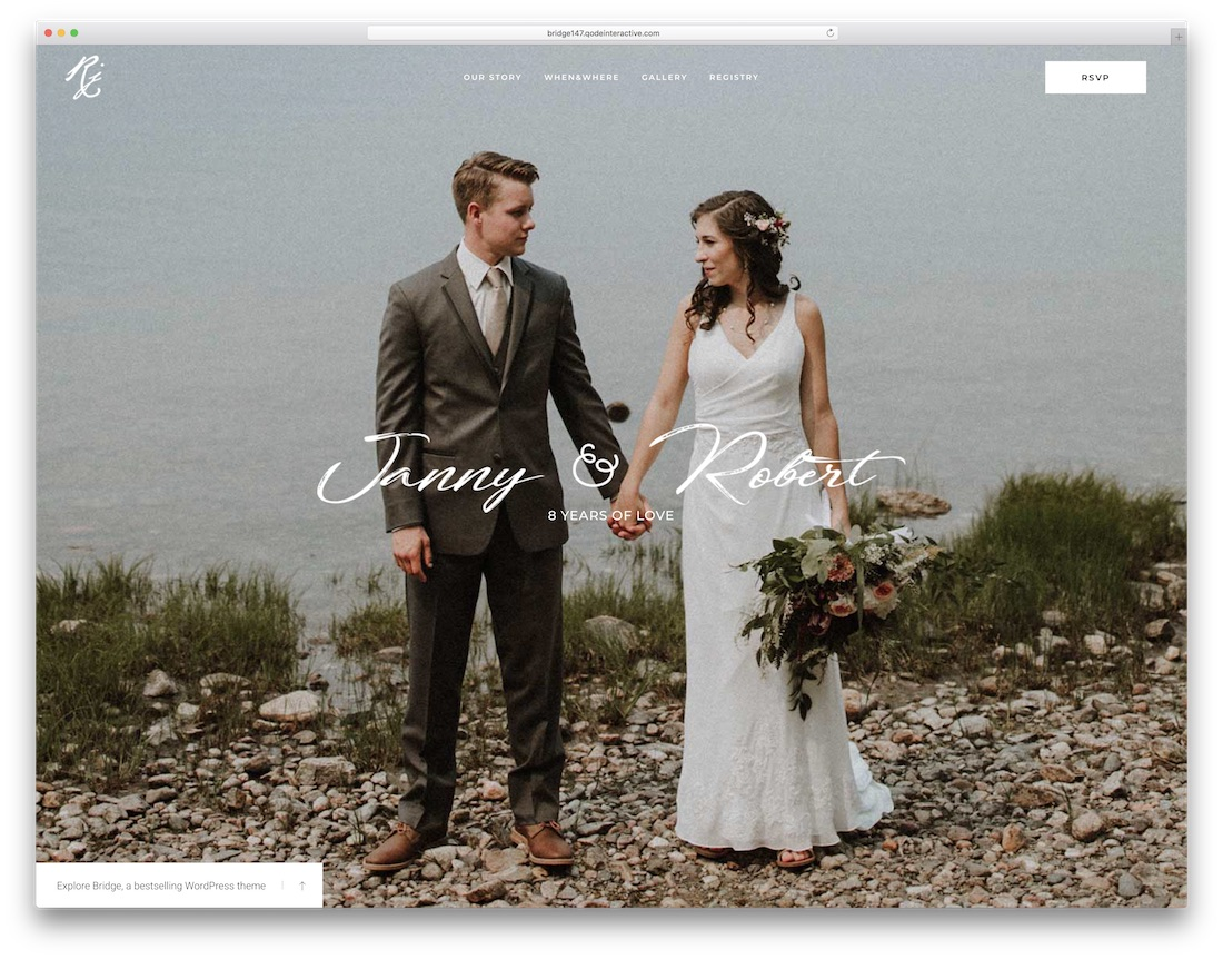 bridge wordpress wedding theme