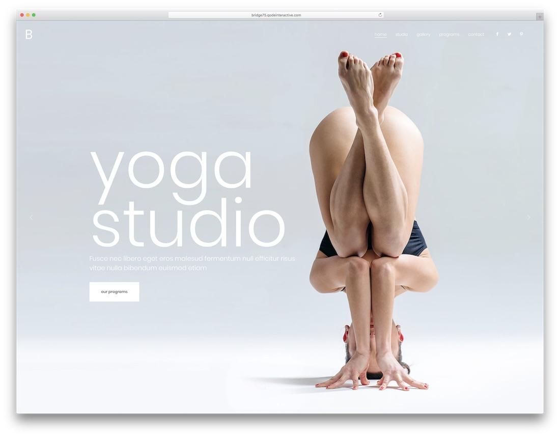 bridge yoga wordpress theme
