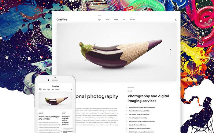 Art Photography WordPress Theme