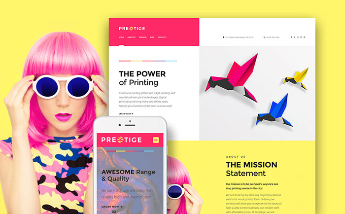 Digital Printing WordPress Theme