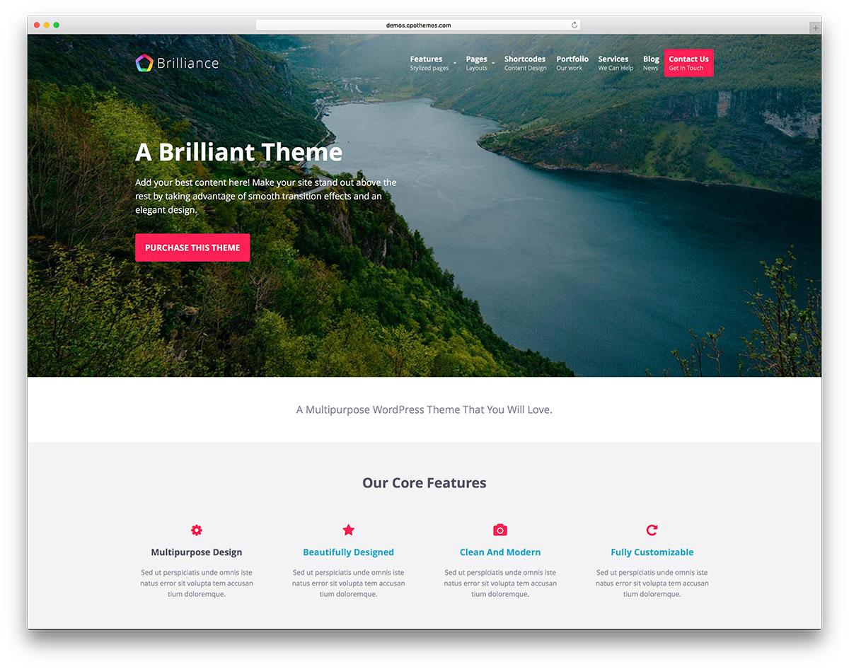 brilliance-minimal-landing-page-website-template