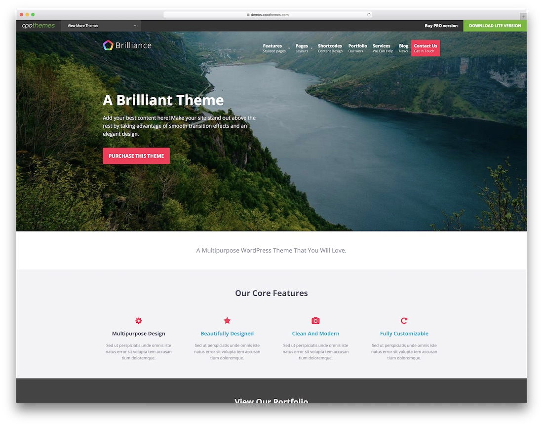 brilliance website template